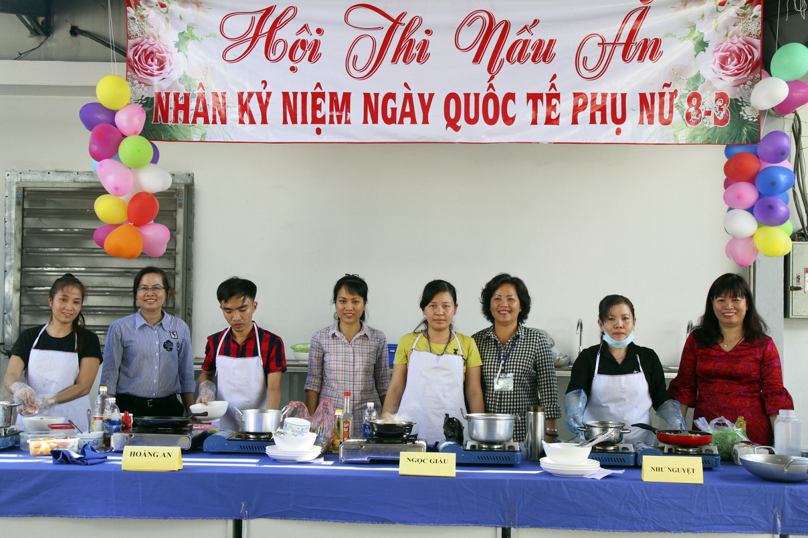 Flowers - cooking - fruit contest on the occasion of international women March 8