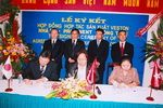 Ceremony of business cooperation among Nhabe - Prominent - Song Tien